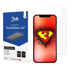 3MK FlexibleGlass Lite Apple, For iPhone 12/12 Pro, Hybrid Glass, Transparent, Clear Screen Protector